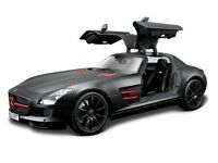 Maisto 1:18 Mercedes Benz SLS AMG Diecast Model Racing Car BLACK NEW IN BOX