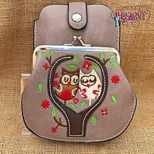 Mink Owl Purse Small bag with Smart Phone Spectacles  Holder Long & Short Straps