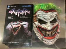DC Batman Death of the Family Book & Joker Mask Set - NEW MSRP $40