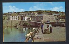 C1970's View of a Fisherman & Lobster trap, Harbour, Mousehole, Cornwall.
