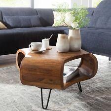Massiver Couchtisch 55x38x55 cm Sheesham Wohnzimmertisch Holz Tisch Wohnzimmer