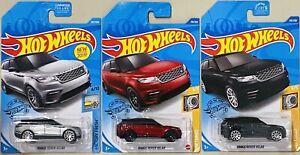 hot wheels Range Rover Velar Silver Ref And Black Lot Of 3