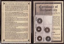 CHINA 5 DYNASTY ALBUM -2,000 Years of Chinese Bronze Cash Coins in Album w/ COA