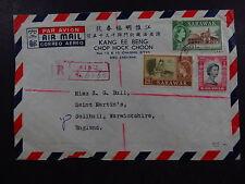R-Cover Par Avion Sibu Sarawak Singapore Kang ee Beng Chop Hock Choon 1959