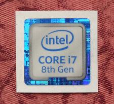 Intel Core i7 8th Generation Sticker 18 x 18mm Case Badge