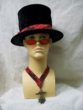 Gothic Vampire Costume Kit Red Glasses Top Hat Amulet Slayer Steampunk Dracula