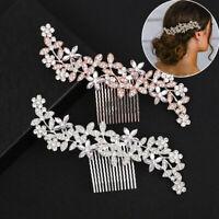 Wedding Rhinestone Hair Pins Clip Comb Diamante Crystal Bridal Hair Accessories