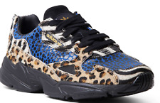 ADIDAS Falcon Out Loud Animal Print Sneakers F37016 Womens 7 NEW | Zebra Leopard