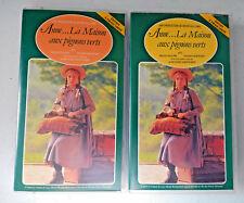 Lot of 2 Anne ... La Maison aux pignons verts Episode 1 & 2 in French VHS