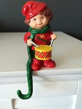Vintage Little Drummer Boy Stocking Holder Hanger Stocking Christmas Mantle
