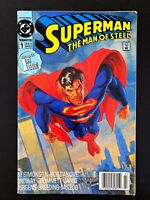 SUPERMAN MAN OF STEEL #1 DC COMICS 1991 FN/VF NEWSSTAND EDITION