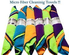 4x MULTI COLOR CAR CLEANING DETAILING MICROFIBER SOFT POLISH CLOTH TOWEL NO LINT
