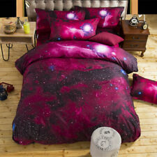 Queen Size 3D Galaxy Bedding Set Universe Outer Space Duvet Cover Pillowcases