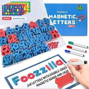 Foozzilla Magnetic Letters Classroom Kit with Double-Sided Magnetic Board - ABC