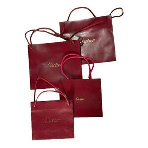Lot 4x Cartier Shopping Bags Small-Medium Watch Jewelry Sunglasses Bag