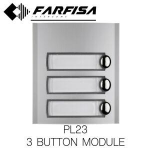 FARFISA PL23 3 BUTTON MODULE PROFILO DOOR ENTRY INTERCOM SYSTEM
