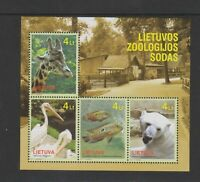 Lithuania - 2011, Lithuanian Zoo, Animals sheet - MNH - SG MS1031