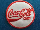 Red DRINK logo round Thirst Advert Football Stitched Iron ON Patch Patches