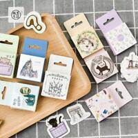 Lots 45pcs Cute Cat Head Mini Paper Sticker Decoration DIY Diary Label Sticker