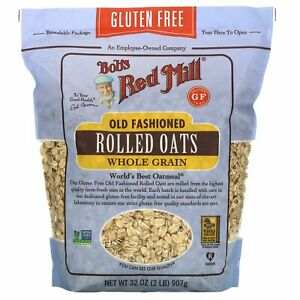 Old Fashioned Rolled Oats, Whole Grain, Gluten Free, 32 oz (907 g)