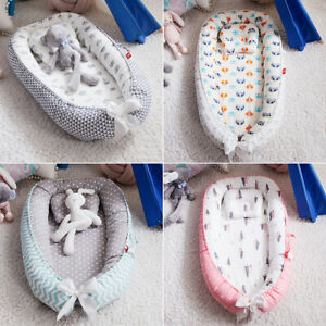 2PCS Crib Baby Girls Boys Bed Pillow Newborn Gift Nursery Bedding Set Removable