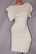 Damen Kleid Stiefel Strick Long Tunika Shirt stretch 36 38 40 42 S M L XL ITALY