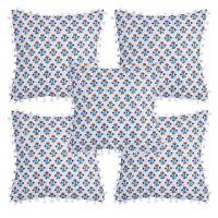 """16x16"""" Indian Cushion Cover Vintage Pillow Cases Decorative 5 PCs Set"""