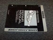 1992 Toyota Supra & Cressida A340E Transmission Shop Service Repair Manual