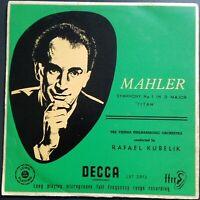 Mahler - Symphony No. 1, KUBELIK, VPO, Decca LXT 2973, MONO