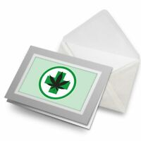 Greetings Card (Grey) - Cannabis Medical Weed Sign Marijuana  #5721