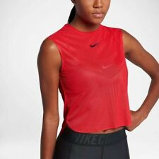 WOMENS NIKE COURT DRY SLAM TANK TOP SIZE S (854819 653) RED