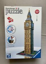 Ravensburger 3d puzzle Big Ben 125548 216 Pieces Used But Complete