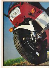 Kawasaki GPz600R Dunlop tyre ad classic period motorcycle advert 1985
