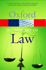 A Dictionary of Law (Oxford Paperback Reference), By ,in Used but Acceptable con