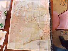 Rare 1919 28x35 Queens Brooklyn Rockaway Subway surface transit Trolley MAP WOW