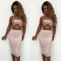 Women Summer Casual Bandage Bodycon Evening Party Cocktail Short Mini Dress
