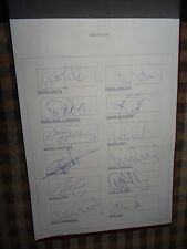 Sunderland AFC Players Autographs 1994/95 34 Signatures including Management