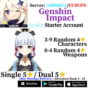 [America/NA/Europe/EU/Asia/AS] Genshin Impact Ayaka Starter Account