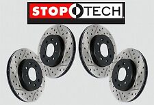 [FRONT + REAR SET] STOPTECH Drilled Slotted Brake Rotors [w/BREMBO] STS35944
