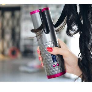 USB Cordless Auto Rotating Hair Curler Hair Waver Curling Iron Hair Styling Tool