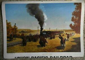 Trains Locomotive 16 Set Howard Fogg & Misc Prints Union Pacific Railroad 8 pgs