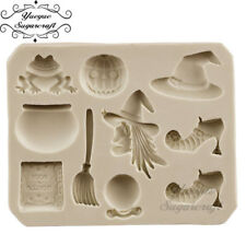 Witch broom Halloween Baking Mould mold Fondant Icing Cupcake  Decoupage - M99