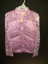 Faded Glory Girls Heart Long Sleeve Shirt Woth Sleeveless Bubble Jacket L 10-12