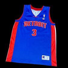 Champion EU Ben Wallace Pistons NBA Trikot Basketball Jersey Jordan Iverson Kobe