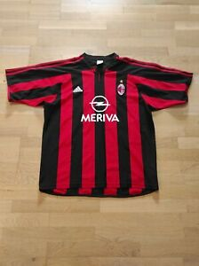 Adidas AC Mailand Trikot Jersey Maglia Maillot Camiseta Milan Meriva 02-03 Gr. L