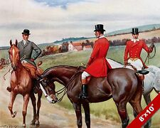 BRIDLE ROADS FOX HUNT HORSE EQUESTRIAN HUNTING ART PAINTING REAL CANVAS PRINT