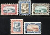 BRITISH GUIANA SCOTT# 152-56 SG# 216-21 MINT HINGED AS SHOWN
