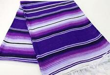 Large New 2 Tone Purple Genuine Mexican Sarape Hot Rod Blanket Rug Picnic