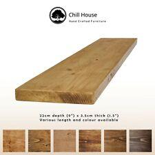 Rustic Floating Shelves Reclaimed Scaffold Board Chunky 9x1.5 Old Oak Pine