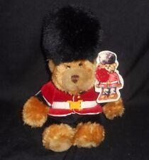 "9"" 2005 KEEL LONDON BRITISH GUARD GUARDSMAN TEDDY BEAR STUFFED ANIMAL PLUSH TOY"